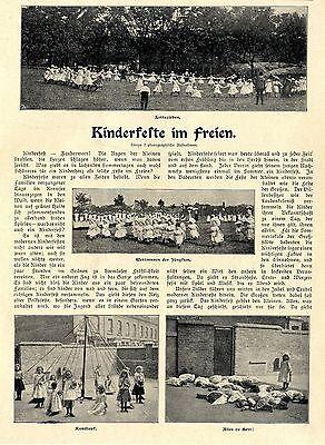 D. Goebeler * Kinderfeste im Freien * Spielideen  Text- & Bilddokument 1902