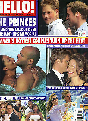 Prince William Harry Uk Hello Magazine 7 10 07  983 Angelina Jolie Sienna Miller