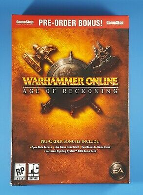 WarHammer Online Age of Reckoning Pre-Order Promo Box with CCC Demo Deck! NEW](Order Boxes Online)