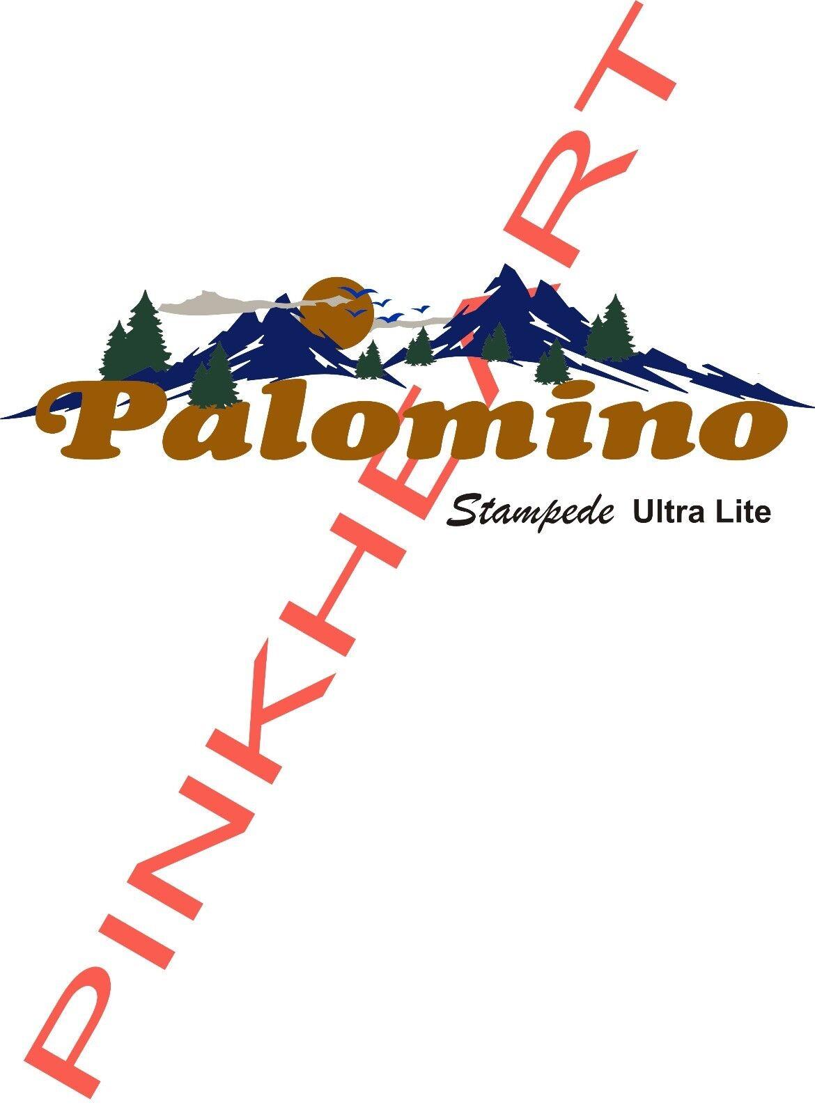 Palomino stampede Decal sticker vinyl trailer camper rv US decals stickers ULTRA