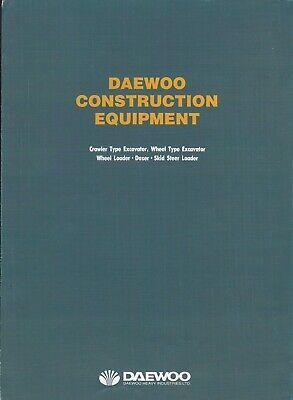 Equipment Brochure - Daewoo - Construction Product Line Overview - C1999 E6322