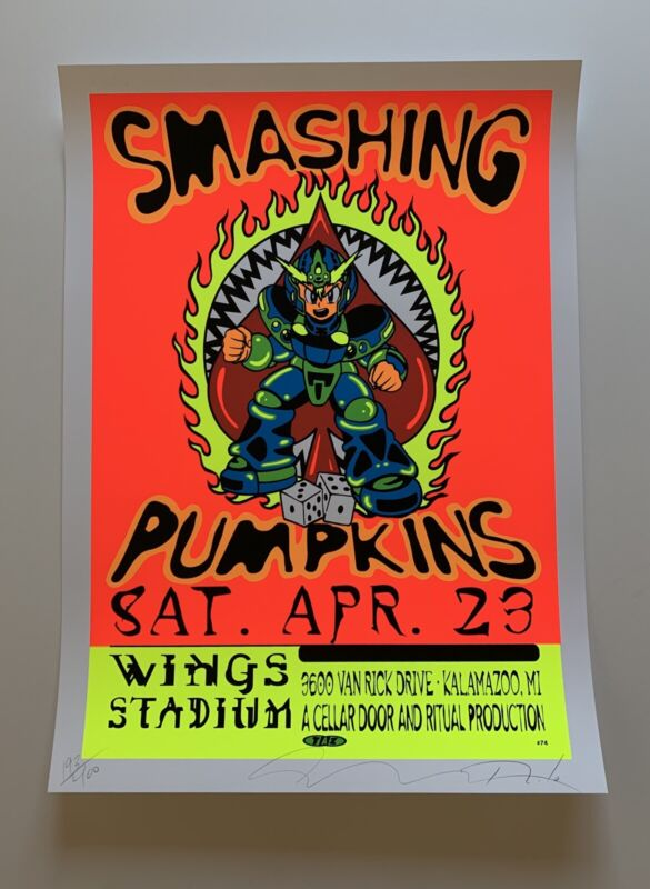 (Taz) Smashing Pumpkins Original Rock Concert Poster Signed and Numbered