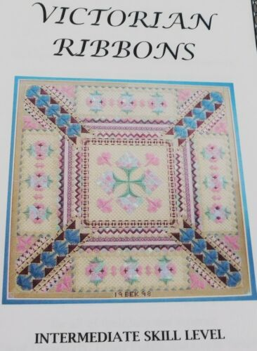 Brenda Kocher Needlepoint Pattern, Victorian Ribbons 1998