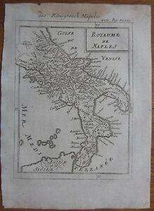 MALLET: Original Map Italy Kingdom of Napoli - 1718