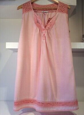 Kenneth Cole Dress. Size UK 12-14. Sleeveless. Peach/Pink. Good Condition.
