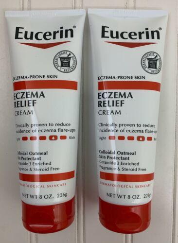 2 Eucerin Eczema Relief Cream with Colloidal Oatmeal 8oz Eac