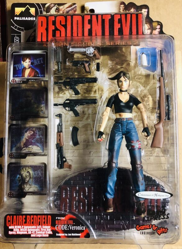 Resident Evil Code Veronica Claire Redfield Bloody Action Figure Palisades 2001