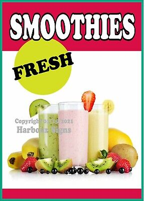 Smoothies Fresh Decal Choose Your Size Food Truck Concession Sticker