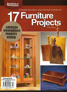 AMERICAN-WOODWORKER-17-FURNITURE-PROJECTS-VOL-2-New-SMALL-MEDIUM-LARGE