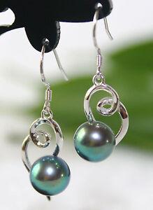 AGP006-Genuine-AAA-Cultured-Freshwater-Peacock-Black-Pearl-Silver-Earrings