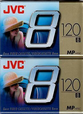 Jvc - 8mm Videocassettes / 120-minute Standard Mode 2 Sealed