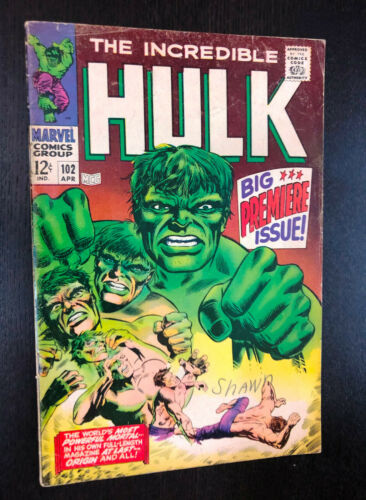 INCREDIBLE HULK #102 (Marvel 1967) -- First Issue -- VG