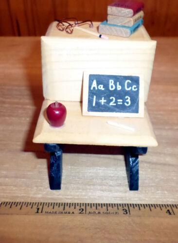 New Dollhouse Miniature Student Desk - 1960