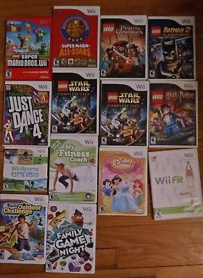 Nintendo Wii Games   Mario Sonic Smash Bros Lego Wii Sports Play Fit You Choose