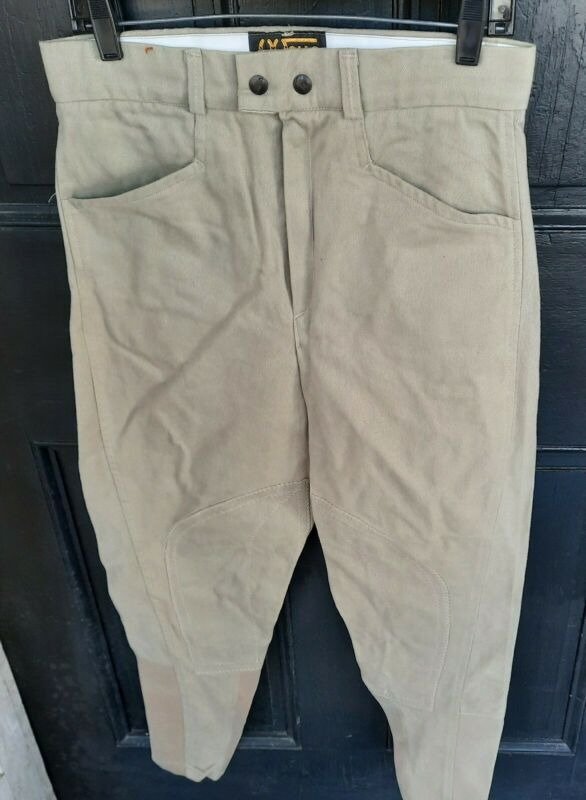 NEW NOS WALLS MENS Size 32L 32 Long Eaton Flare Polo Riding Breeches Pants Khaki