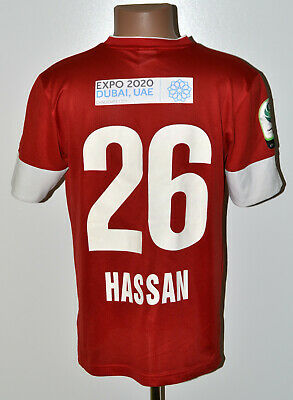 AL AHLI DUBAI MATCH WORN ISSUE 2013/2014 HOME FOOTBALL SHIRT JERSEY NIKE HASSAN image