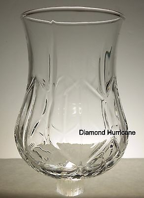 Home Interiors Large Clear Hurricane Diamond Votive Cup w/ rubber grommet