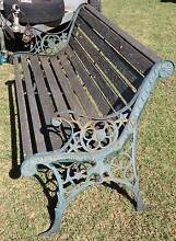 Outdoor Garden Bench- Timber and Cast Ends Lion Head decor South Windsor Hawkesbury Area Preview