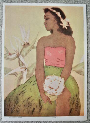 John Kelly Royal Hawaiian Hotel Menu Hula Dancer Hawaii June 27, 1954