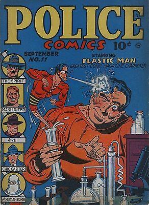 Police Comics #11 Photocopy Comic Book, 1st app. The Spirit, Plastic Man