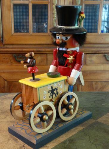 "Vintage Steinbach Musical Organ Grinder Nutcracker 13"" tall"