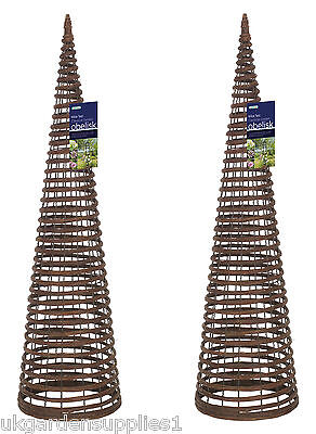 Willow Twist Obelisks Climbing Plant Garden Supports Pack of 2 x 1.5m high