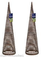 Pack Of 2 X 1.2m High Willow Twist Obelisks - Climbing Plant Garden Supports - gardman - ebay.co.uk