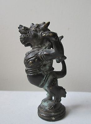 ANTIQUE old 15th Century MAJAPAHIT JAVANESE Mythical  Indonesian Bronze figure