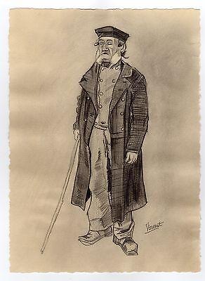 Vincent van Gogh MAN WITH STICK Pencil Drawing