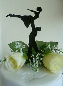 dirty wedding cake toppers style silhouette black acrylic cake topper 13537