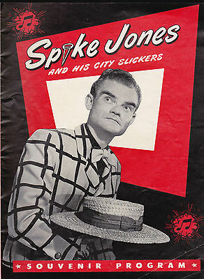Spike Jones & His City Slickers Souvenir Program 1940s