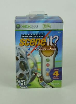 SCENEIT? Microsoft XBOX 360 The Movie Trivia Game w/ 4 Wireless Controllers for sale  Shipping to India