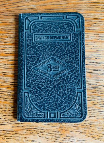 1932 3rd NATIONAL BANK, NASHVILLE, TENNESSEE Savings Deposit / Withdrawal Book