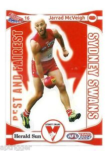 2014 Teamcoach Best & Fairest Sticker (16) Jarrad McVEIGH Sydney