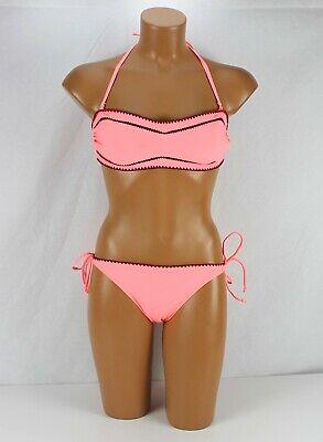 Hunkemöller Bikini Set Bandeau Soft Top Pink Neon, Bottom size L, Top size L