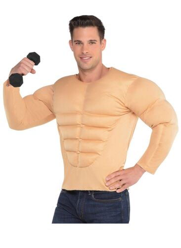 AMSCAN Muscle Shirt Halloween Costume Accessory for Men, One Size Standard
