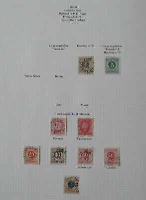 Sweden. Sheet of fine used stamps.