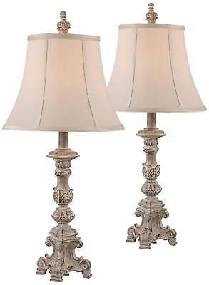 Nightstand Lamp Pair Set of 2 Vintage Bedroom Bedside Table