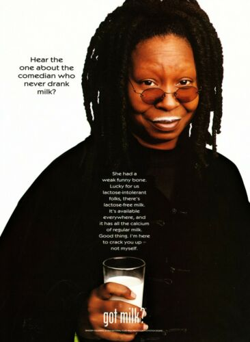 GOT MILK? AD 1999 WHOOPI GOLDBERG