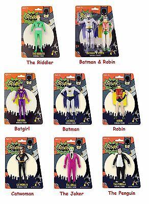 batman 66 tv series bendable figure robin catwoman riddler joker penguin batgirl