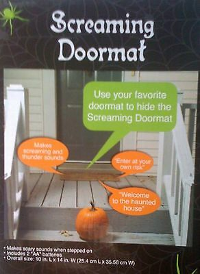 SCREAMING DOORMAT Halloween Decoration BATTERY OPERATED scare trick-or-treaters - Scaring Trick Or Treaters