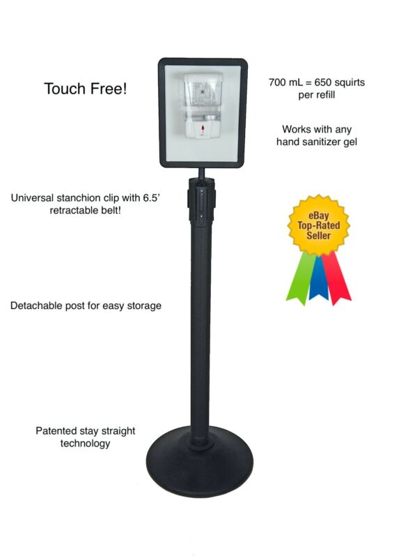 Touch Free Dispenser Floor Stand - COMES WITH AUTOMATIC DISPENSER