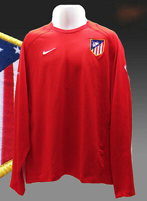 95313e4d64e ATLETICO MADRID Player Issue Football Training Long Sleeved Sweatshirt XL