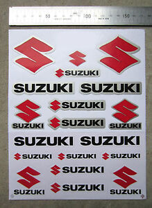 Sticker Decal Logo Emblem Badge Set Fits - SUZUKI GSXR TL SV VL GS GSX GSR GSXF