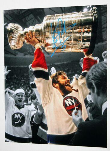 DENIS POTVIN SIGNED 11x14 PHOTO NEW YORK ISLANDERS NY STANLEY CUP NHL AUTO +COA