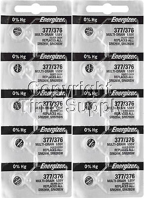 Energizer 377 / 376 Watch Batteries SR626SW 626 0%HG ( 10 PC )