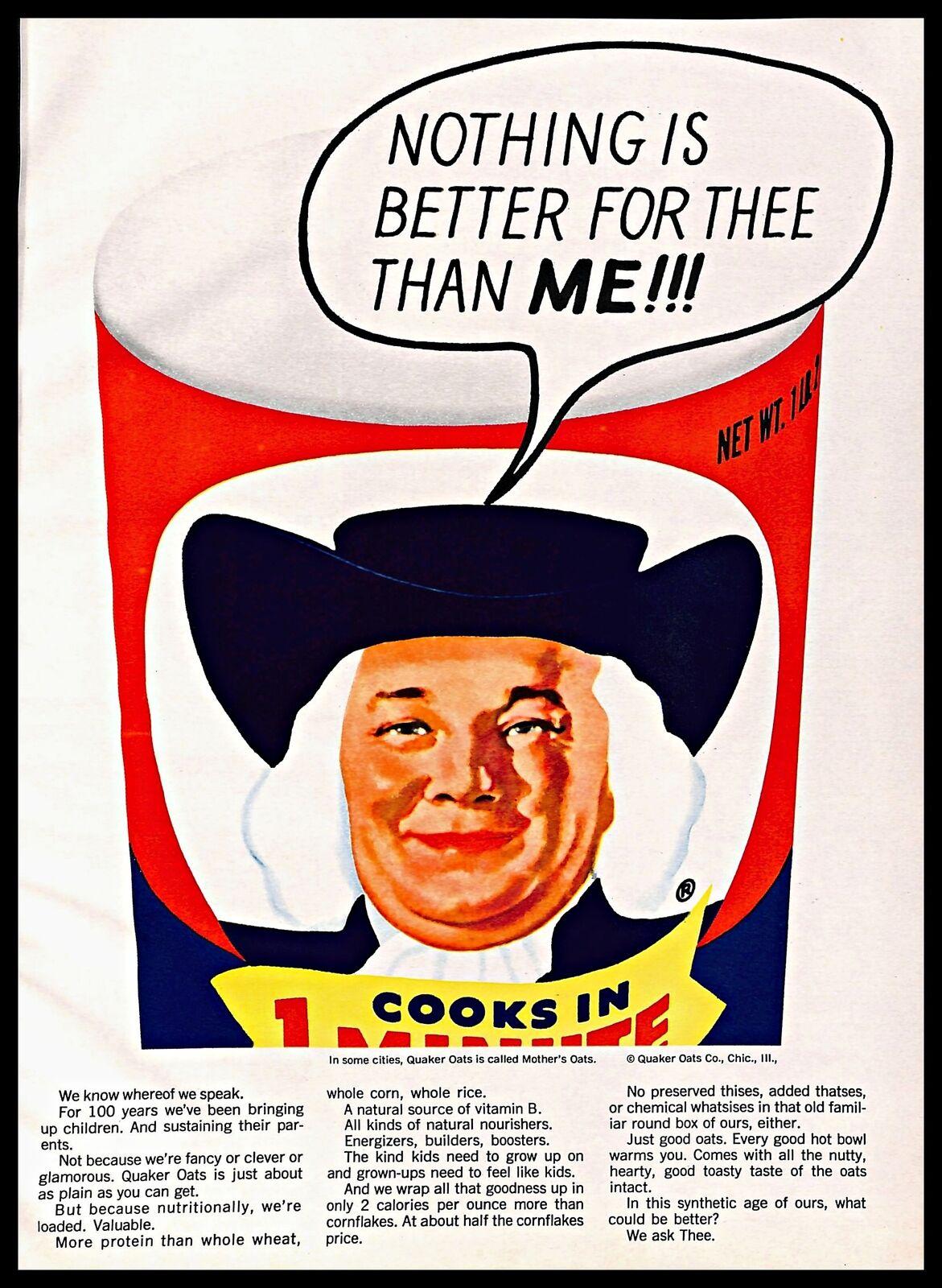 1964 Quaker Oats Vintage PRINT AD Classic Breakfast Cereal Art Logo 1960s    eBay