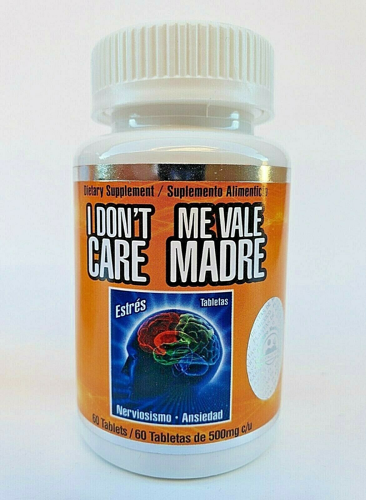 ME VALE MADRE 60 Tablets 500 mg each Support Estres Depresion Ansiedad 1