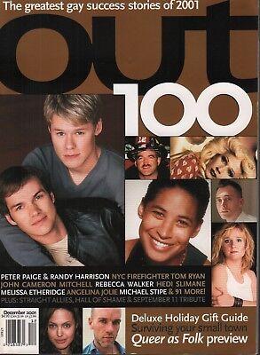 Out 100 December 2001 Angelina Jolie Rebecca Walker Hedi Slimane 091118DBE