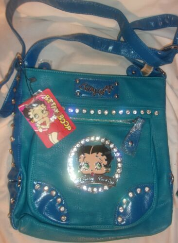 SCARCE BETTY BOOP BLUE LEATHER PURSE BY COCO
